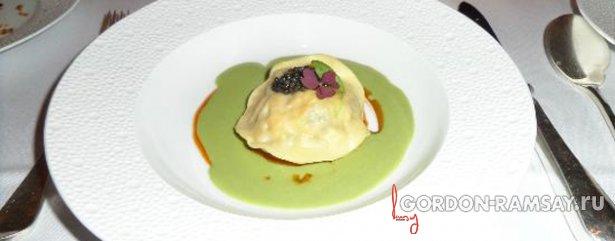 Тортелло  с карпаччо из  омаров